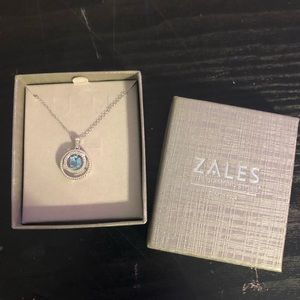 Zales aqua gemstone necklace